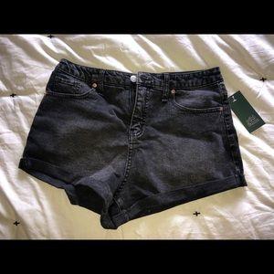 Wild fable black denim shorts